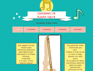 Cuaderno flauta dulce (html5) (iPad)