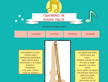 Cuaderno flauta dulce (html5) (iPad)