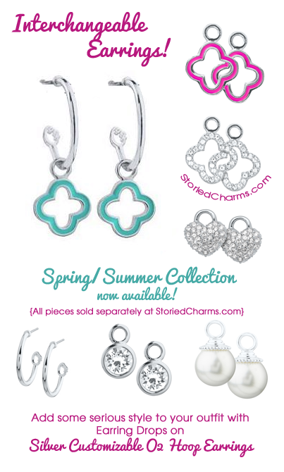 Origami Owl Interchangeable Earrings and Earring Drops | Shop StoriedCharms.com