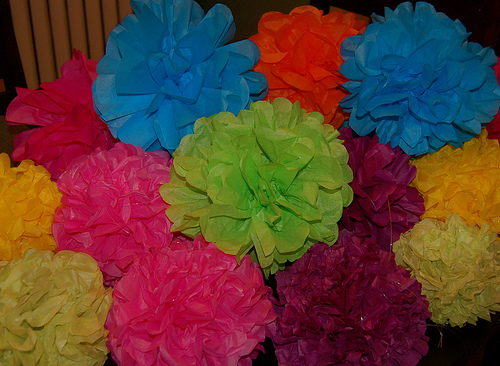 Troop tips tissue paper flowers another craft we did with our daisies in the spring was tissue paper flowers we had each girl make one flower and twisted it onto a green pipe cleaner stem mightylinksfo