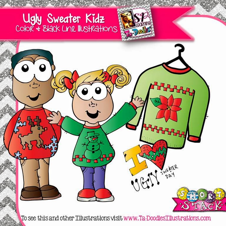 http://www.teacherspayteachers.com/Product/Kids-in-Ugly-Sweaters-Clip-Art-1583970