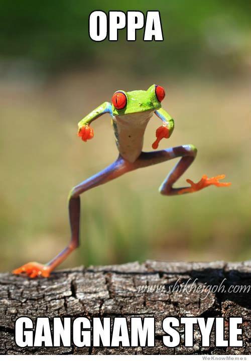Gangnam Style Frog