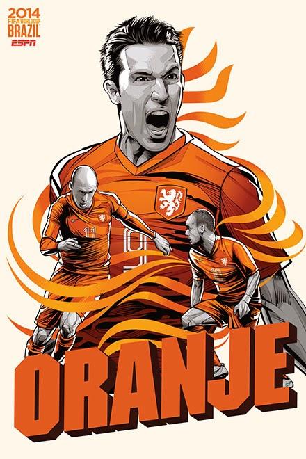 Poster keren world cup 2014 - Belanda