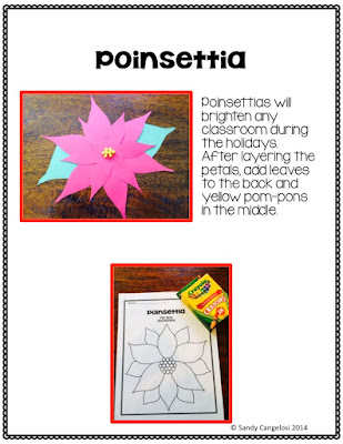 Poinsettia craft for Christmas in Mexico