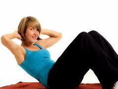cara mengecilkan perut, sit-up
