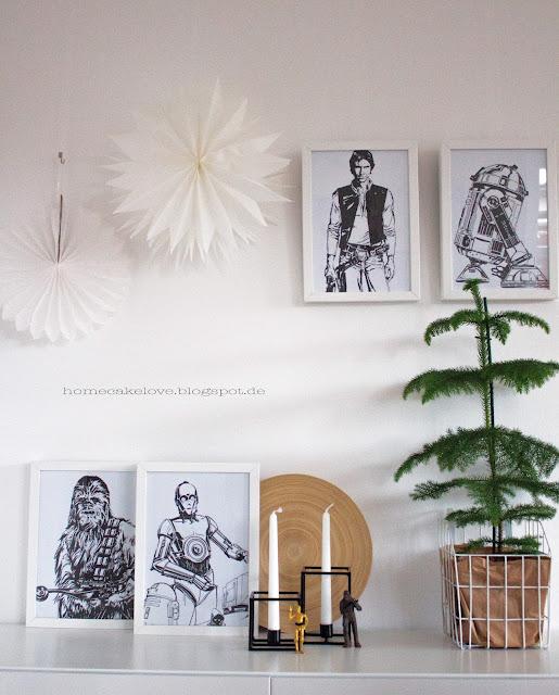 Star Wars Dekoration, Zimmertanne von Ikea, Star Wars Comics eingerahmt,Bilderrahmen Ikea
