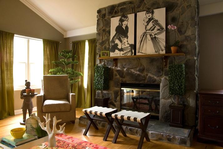 Dreamy living room s t a r d u s t decor style for Living room ideas no fireplace