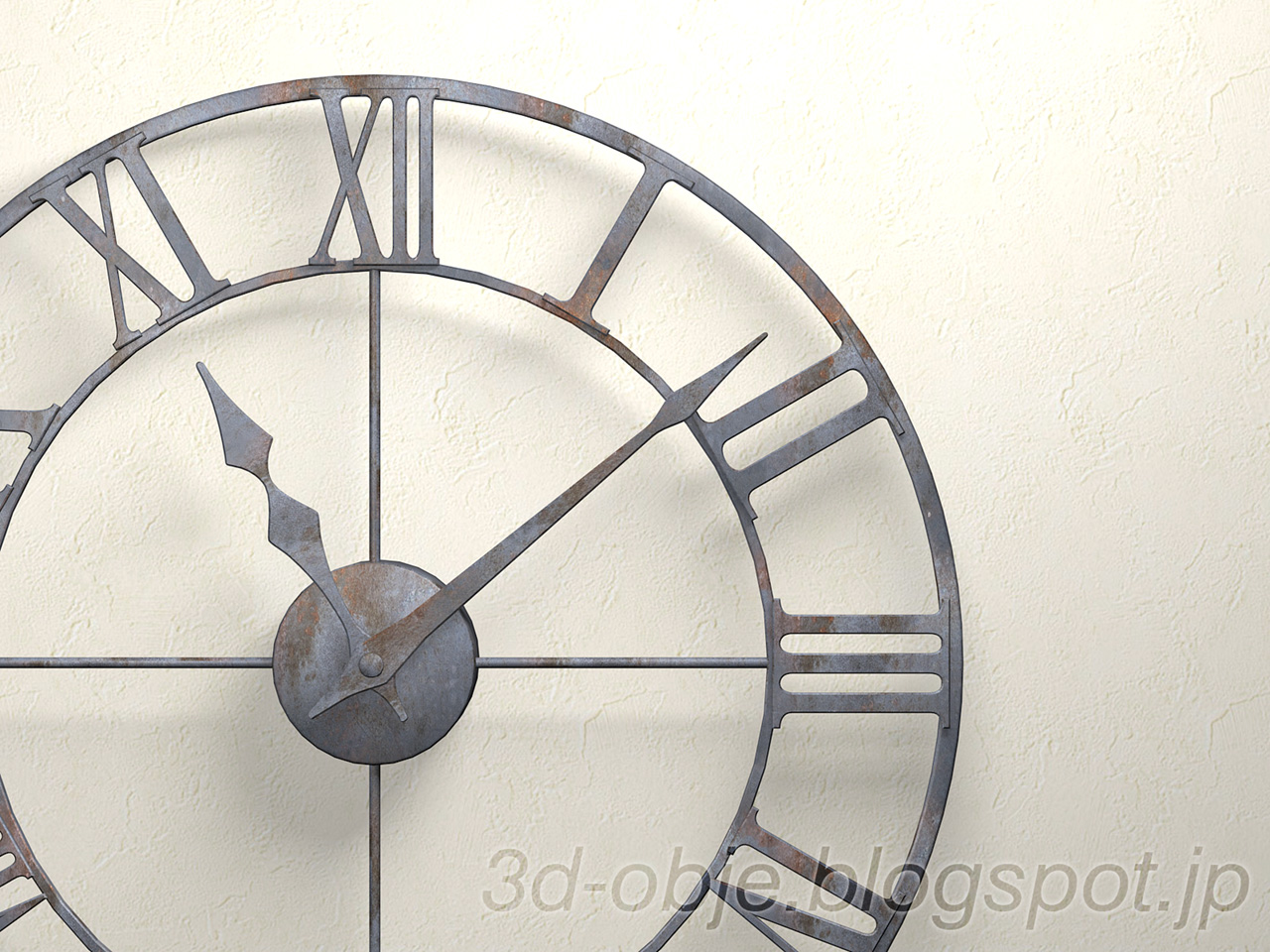 アイアンウォールクロック (時計) - Wall Clock