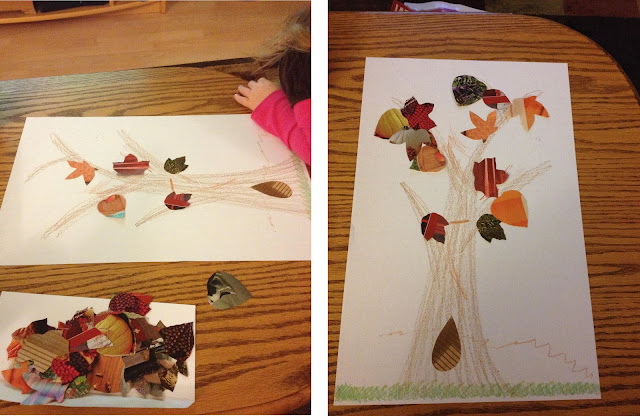 Magazine leaf trees #fall #craft #leaves ~ Life in Random Bits