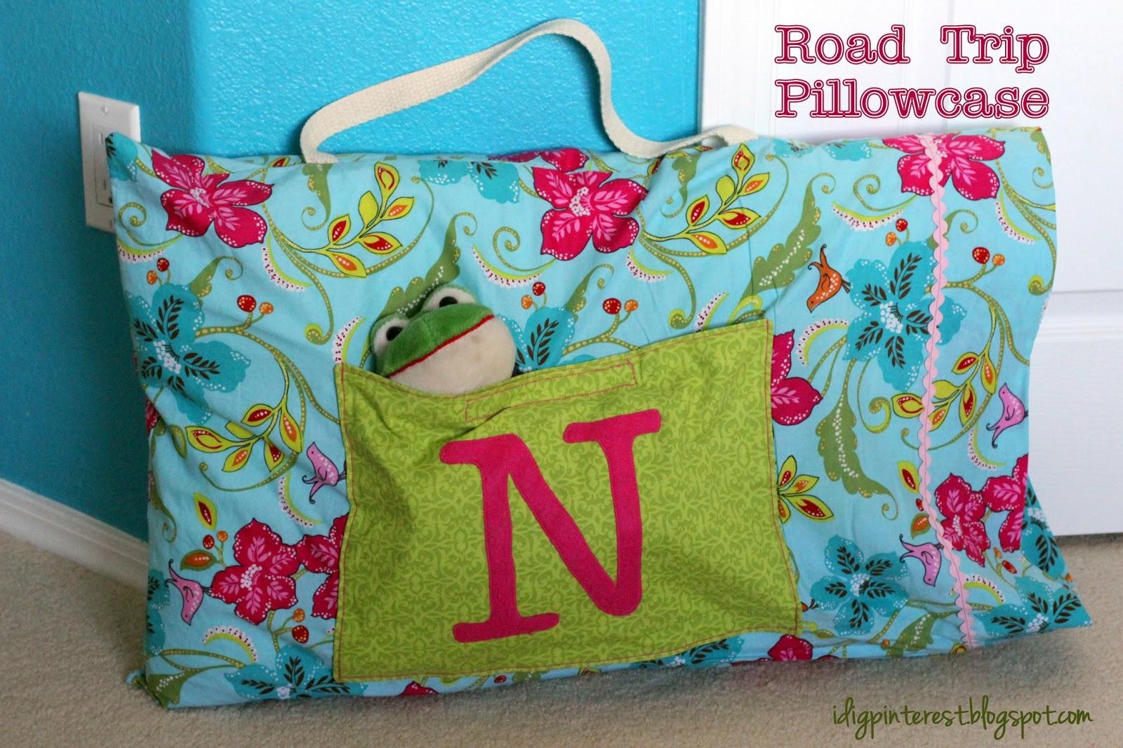 Diy Travel Pillow Case: DIY Road Trip Pillowcase   I Dig Pinterest,