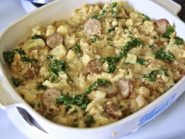 Chicken Sausage, Cauliflower, & Kale Casserole