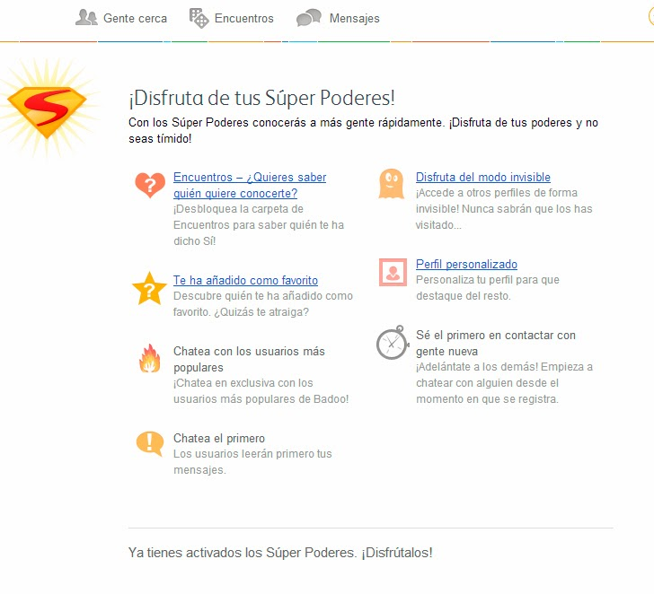 activar superpoderes en badoo con gmail