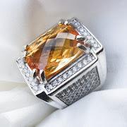 Cincin Batu Permata Golden Citrine - SP665
