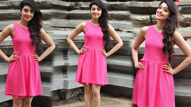 Pranitha Latest HD Stills in Pink Skirt