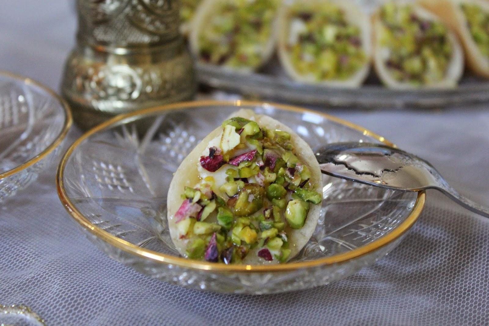 tortitas-árabes-con-pistachos