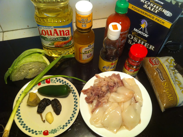 Quick Squid With Red Chile Sauce And Herbs Recipe — Dishmaps