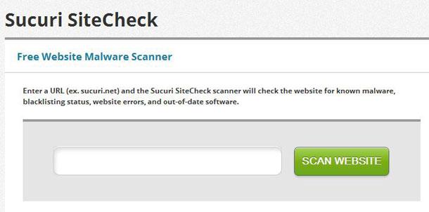 Check Malicious websites using Sucuri