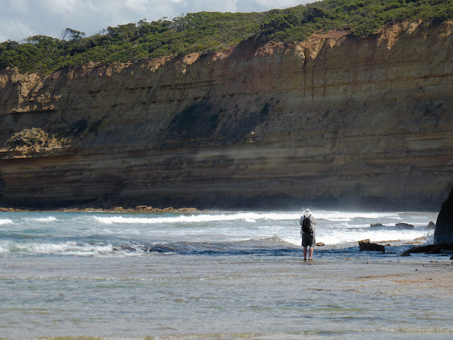 man in water near jan juc cliffs
