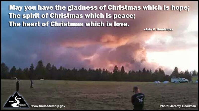 May you have the gladness of Christmas which is hope; The spirit of Christmas which is peace; The heart of Christmas which is love.  Ada V. Hendricks