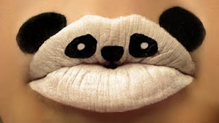 Baby Panda Painting On Lips