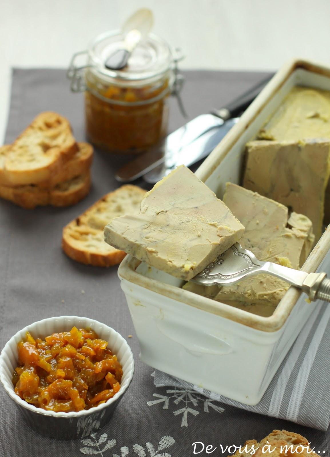 De vous moi foie gras en terrine et chutney de kumquats - Cuisson foie gras en terrine ...