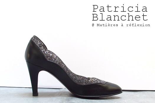 Escarpins cuir noir/pailleté Patricia Blanchet escarpins chaussures Bidiboule