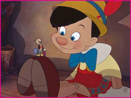 Walt disney cartoon pinocchio characters