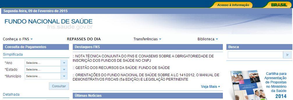 FUNDO NACIONAL DE SAÚDE - FNS