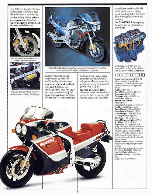 Suzuki GSX R 1100 Brochure