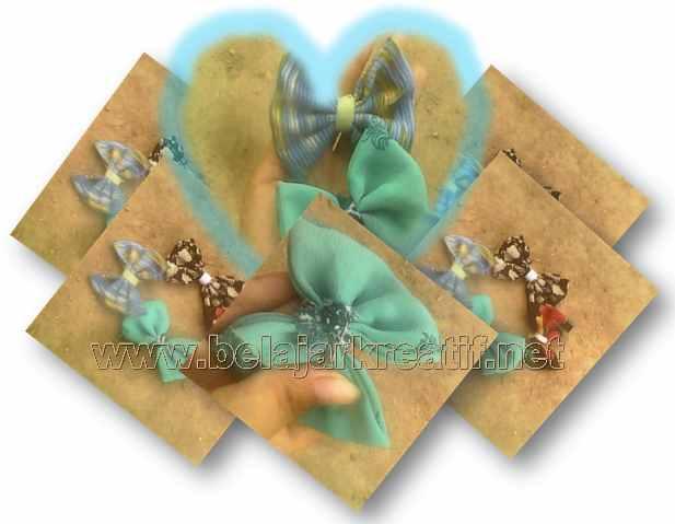 Gambar cara membuat bros dengan bahan dasar kain perca