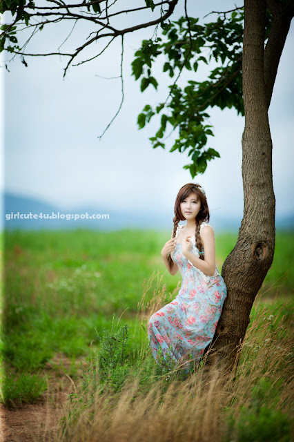 Ryu-Ji-Hye-Flower-Dress-02-very cute asian girl-girlcute4u.blogspot.com