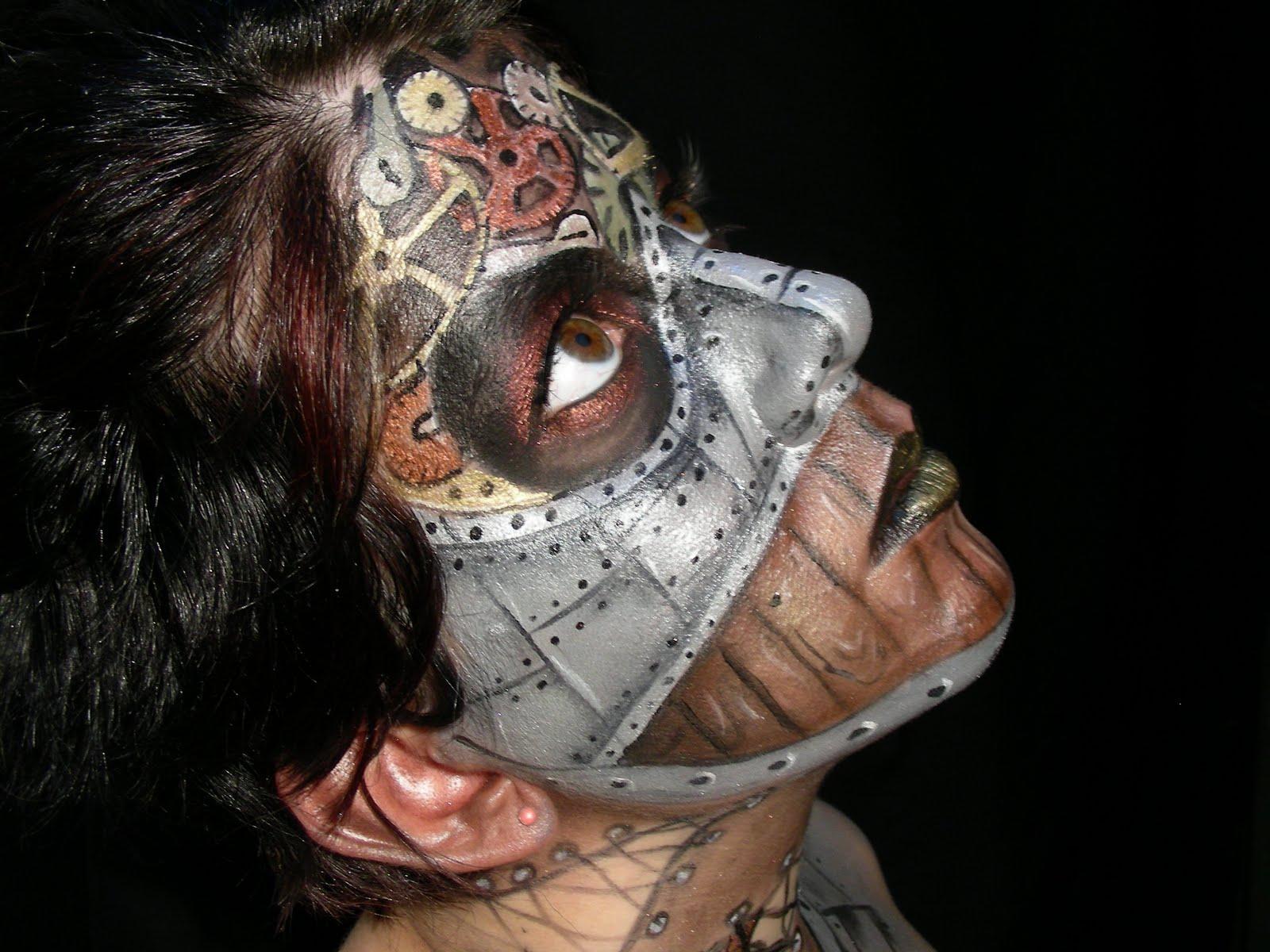 steampunk makeup ana arthur arthur make up body