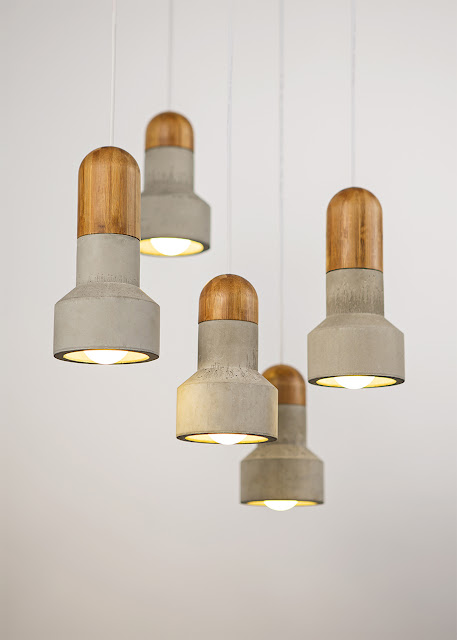 Concrete and bamboo lamps by Bentu at LDF 2014