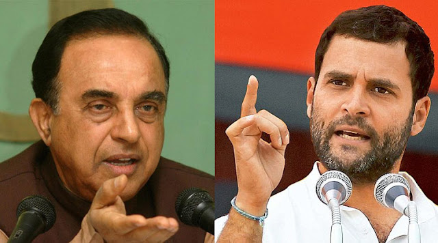 BJP leader Subramanian Swamy said on Jodhpur on Tuesday that FBI had caught Rahul Gandhi at Boston in 2001, with white powder and $160,000. Zee News quoted Subramanian Swamy saying FBI let him go after Vajpayee intervened.