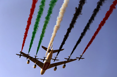Dubai Airshow, Art, Exhibition, Feature, War, Army, Air Force, Color,  Offbeat, UAR, Dubai, Aircraft, Airline, Economy, Business, Show, Performance, Britain, Pakistan, France,World, Arrows,