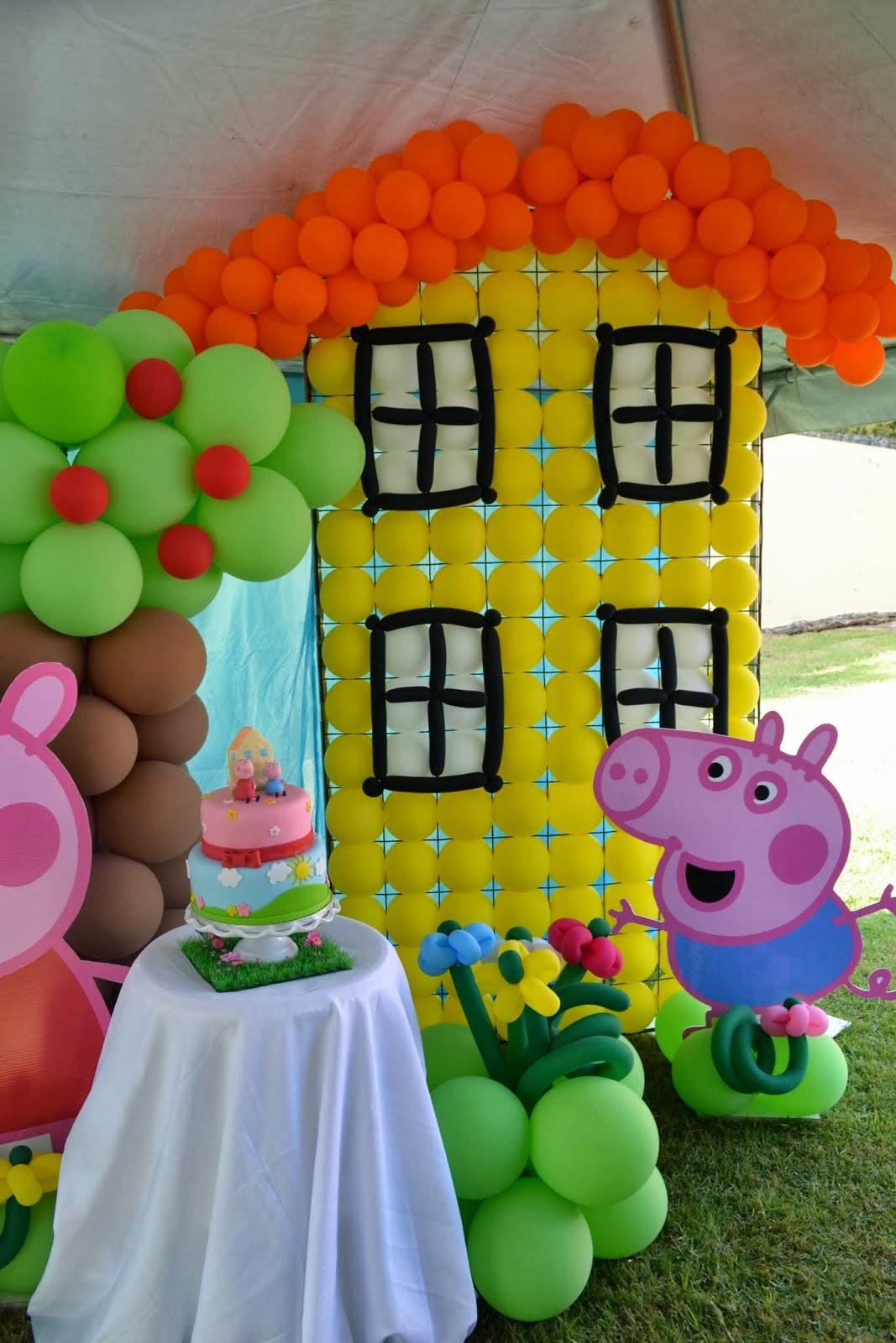 Decoracion de fiestas infantiles peppa pig - Decoracion fiestas infantiles en casa ...