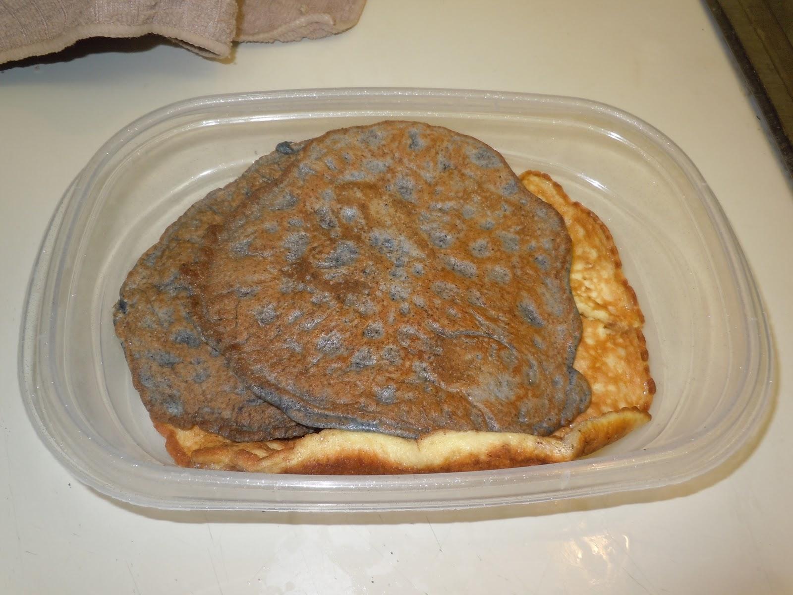 ... Savory Pancake Experiments (Blue Corn Flour Pancakes and Coconut Flour