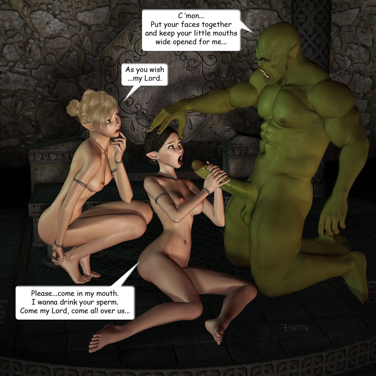 Orcs fucking warrior elves hentai title adult video