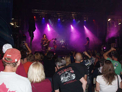The concert on Friday night featured a group called the Love Guns.