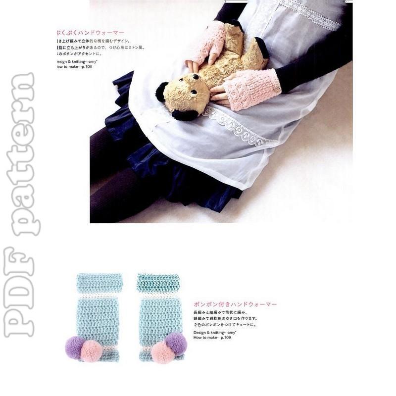Fingerless Mitts Crochet Pattern PDF easy written by SixSkeins