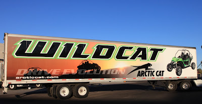 Arctic Cat Drive Evolution Wildcat trailer display