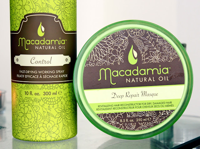 Macadamia Control Hairspray Review, Macadamia Deep Repair Hair Masque Review, Macadamia Hair Products, UK Beauty Blog, Macadamia Natural Oil Hair Products