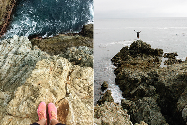 Reaching the water's edge at Big Sur
