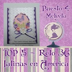 QUEDE EN EL TOP 5 DEL RETO 36