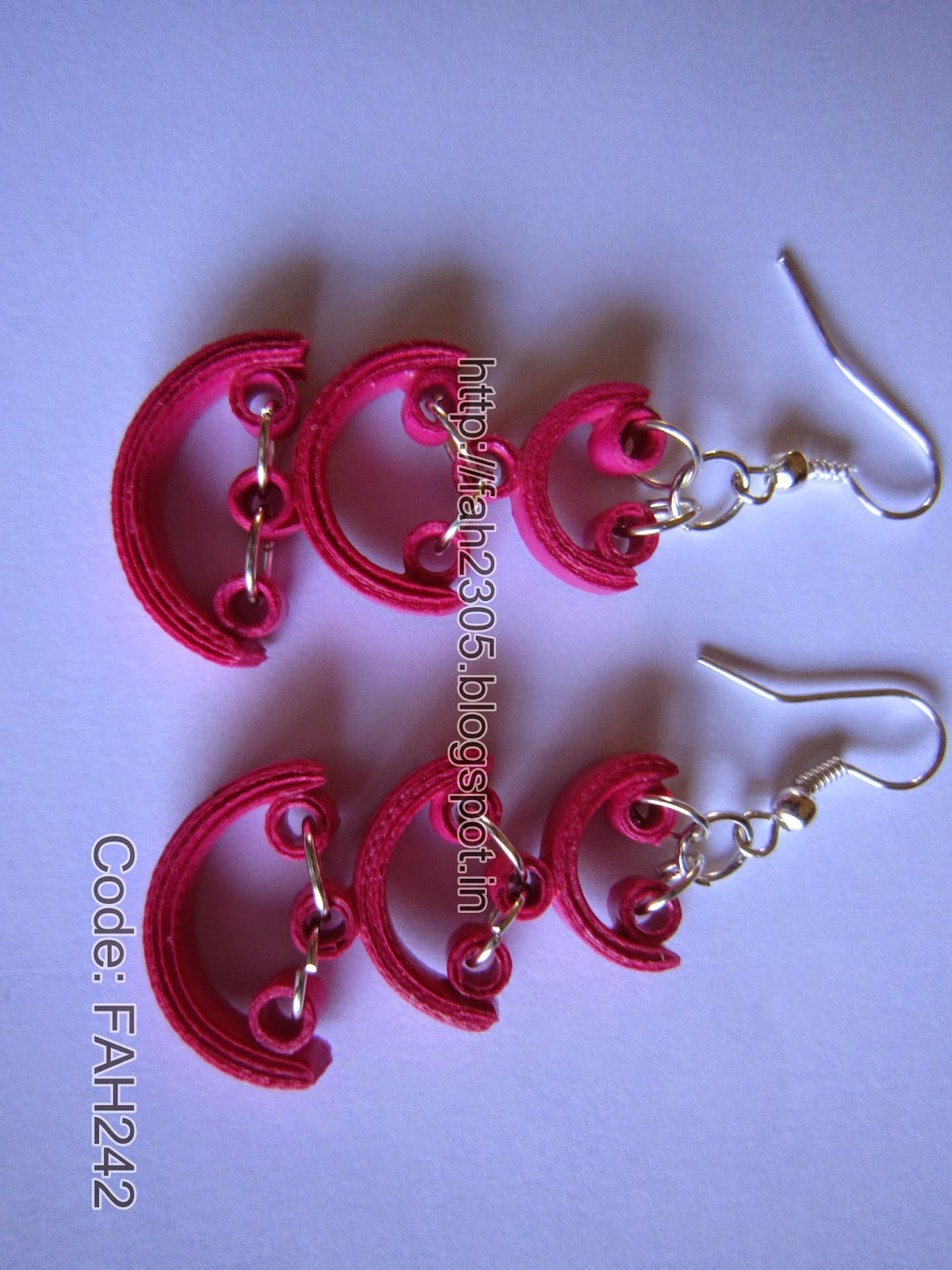 Quilling Earrings Basic Designs : Fah Creations: Paper Quilling Earrings and Necklace