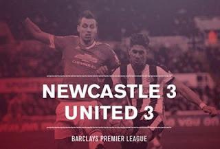 Newcastle vs Manchester United 3-3