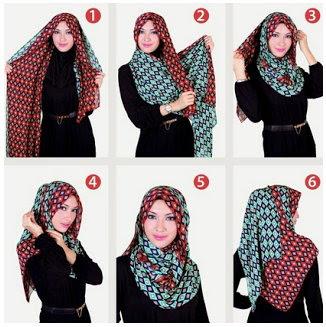 Contoh Tutorial Cara Pakai Hijab Modern Syar'i