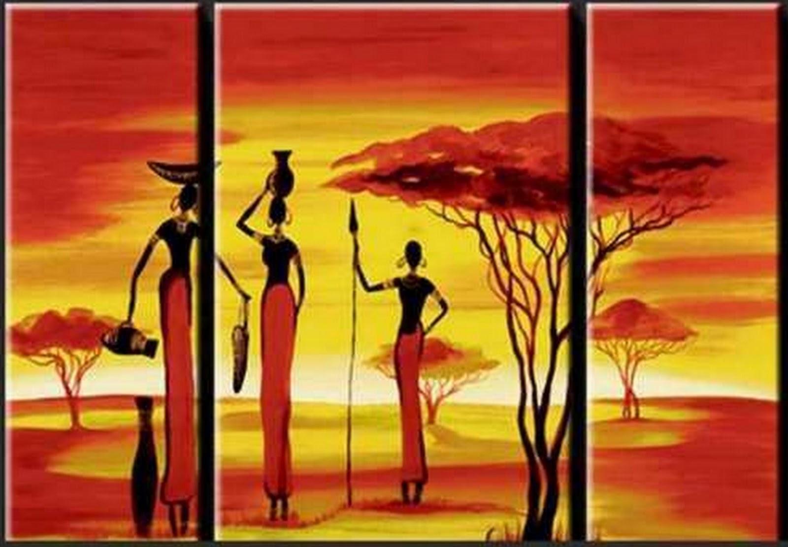 cuadros modernos africanos