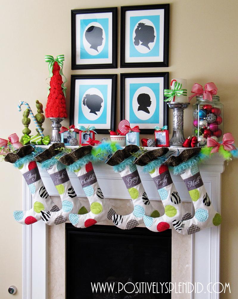 Whimsical christmas mantel decor positively splendid for Whimsical decorations home