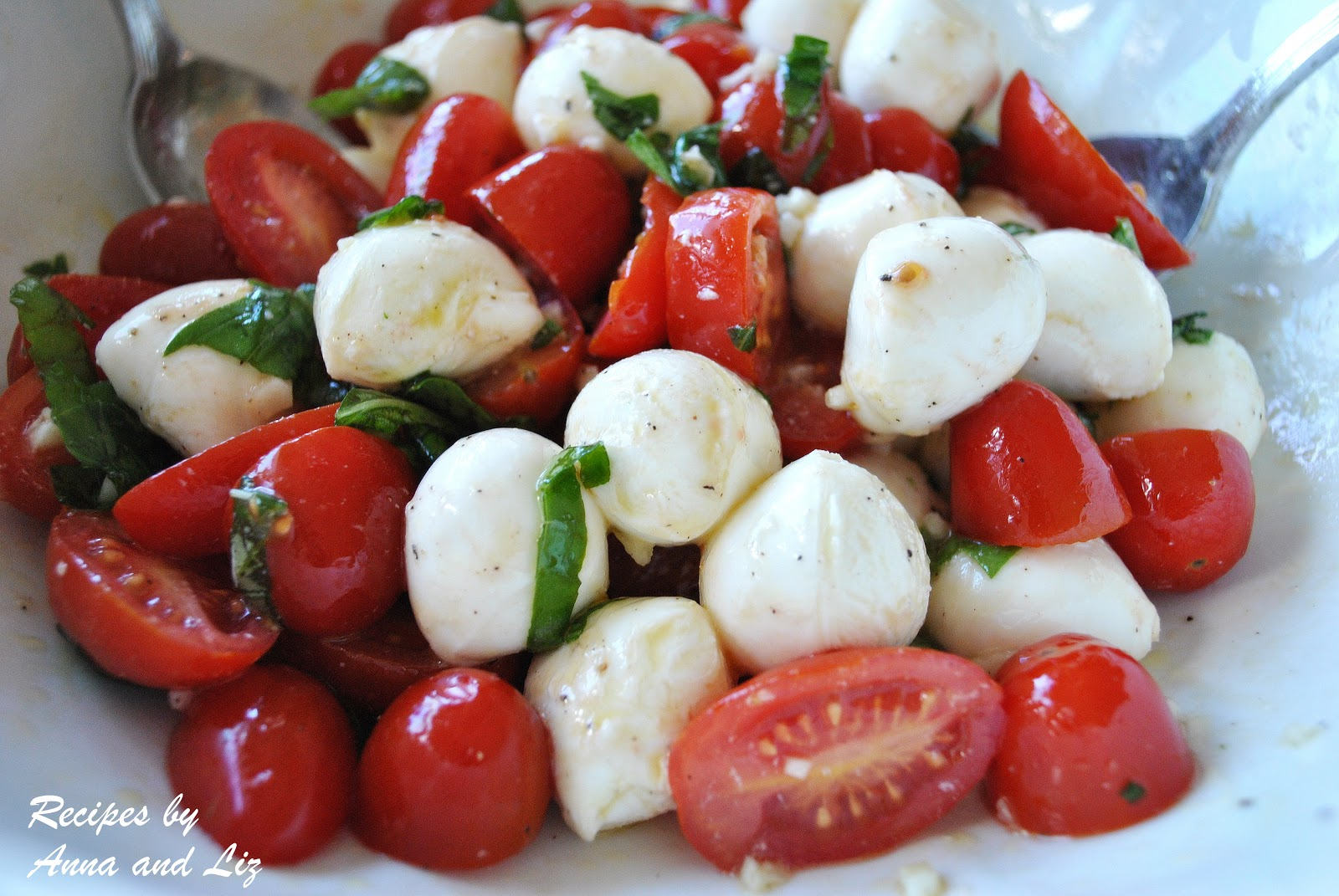 salad marinated mozzarella cherry tomato and basil salad recipes basil ...